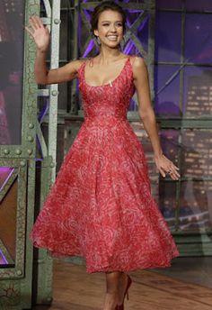 Jessica Alba in vintage nettie rosenstein