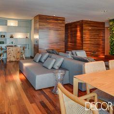 Apartamento em Curitiba reúne a tradição da madeira com ideias modernas. Saiba mais: http://www.revistadecor.com.br