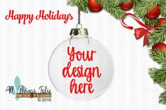 Christmas Ornament Mockup Photo -  Clear Christmas Ornament Mock-up Image by AllThingsJolie78 on Etsy https://www.etsy.com/listing/481011412/christmas-ornament-mockup-photo-clear