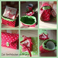 Marylène - Fanfreluches de Mary : Il s'agit d'un Mug bag, petit sac pour transporter sa tasse, son sachet de thé ou d'infusion et son tapis de tasse.