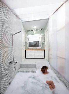 Awesome stepdown bathroom [ MexicanConnexionforTile.com ] #bathroom #Talavera #Mexican