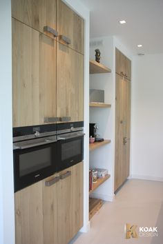 Ikea Kitchens with wooden doors from Koak Design - maybe where cupboards need to be shallow