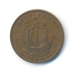 George VI Half Penny 1946 Coin Code: JMC0963 by COINSnCARDS