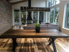 TABLE SELENA- BOIS DE GRANGE #lusine #boisdegrange #surmesure #table #selena Decoration, Selena, Tables, Dining Table, Rustic, Inspiration, Furniture, Home Decor, Barn