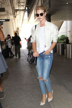 Arriving at LAX airport in Los Angeles.
