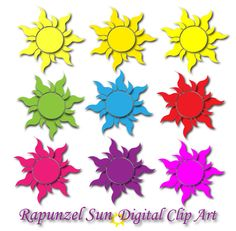 Rapunzel SUN Clipart tangled sun decor Rapunzel birthday by DIGIFT