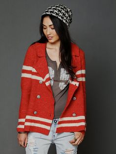 Free People Earned Stripes Jacket, $148.00