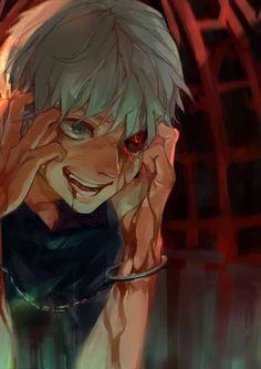 The atmosphere is rather creepy... very fitting for Kaneki, to say the least.
