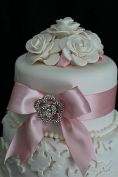 the pink bow! and diamond pin
