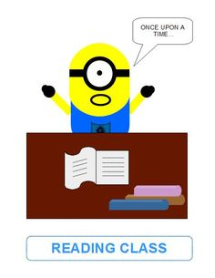 VISUAL AUTISM READING CLASS MINIONS