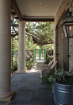 Exterior Photos Faux Painted Columns Design, Pictures, Remodel, Decor and Ideas - page 3