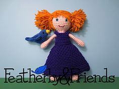 Lillie - Little Sister Doll in Princess Dress - Crochet Pattern by Alicia Moore of Featherby & Friends