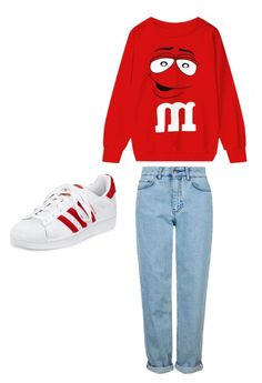 """""""Untitled #4"""" by skyedownie143 ❤ liked on Polyvore featuring Topshop and adidas"""