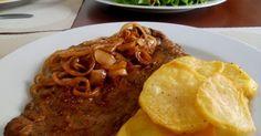 Filetes Encebollados, Carne Encebollada, Bistec Encebollado