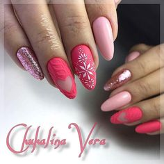 Warm And Cute Sweater Nail Ideas – Vida Joven Sweater nails that have become popular this year are loved more and more , especially in winter. Thick woolen coats with such nails seem to add a touch of warmth. Holiday Nails, Christmas Nails, Nail Noel, Cute Nails, Pretty Nails, Long Round Nails, Manicure Y Pedicure, Manicure Ideas, Christmas Nail Art Designs
