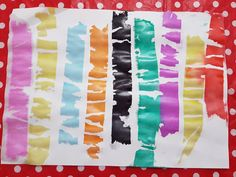 Crepe paper painting