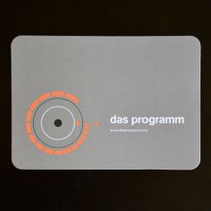 All sizes | das programm card | Flickr - Photo Sharing!
