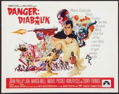 Diabolik, Cool Posters, Film Posters, Cinema Posters, Terry Thomas, Sci Fi Horror Movies, Barbarella, Movies Worth Watching, Action Film