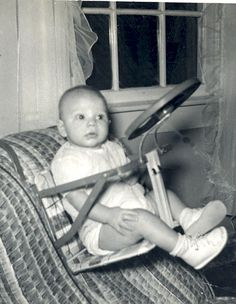 Baby car seat from the 1950's.