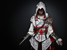 Dennis B. als Ezio Auditore aus Assassin's Creed II.