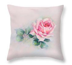 Rose Garden Shabby Pillow Chic Home Decor by ArtbyScherer on Etsy
