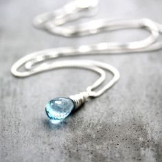 Hey, I found this really awesome Etsy listing at https://www.etsy.com/listing/129584222/blue-birthstone-necklace-rain-dark-sky