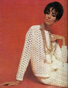 1970s Vintage Crochet Pattern - Ladies Skirt Suit