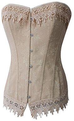 3829ef7045 Buy Alivila.Y Fashion Womens Sexy Vintage Floral Lace Trim Corset Bustier -  Topvintagestyle.