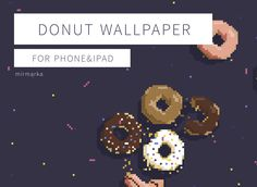 Yummy donut wallpaper for phone and ipad. Instant download. #wallpaper #pixelart #foodart #digital #mirmarka #etsy #wallpaper Delicious Donuts, Phone Wallpapers, Food Art, Pixel Art, Etsy Store, Ipad, Digital, Wallpaper For Phone, Mobile Wallpaper