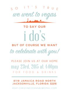 elopement party announcement // range of light                                                                                                                                                     More