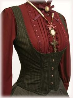 fashion dress steampunk victorian I could totally rock this look,, Steampunk Dress, Victorian Steampunk, Steampunk Costume, Steampunk Clothing, Victorian Fashion, Victorian Corset, Victorian Dresses, Gothic Clothing, Historical Clothing