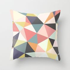 Deco Tris Throw Pillow by Beth Thompson - $20.00