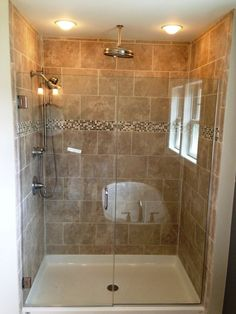 Image result for tile standing shower ideas