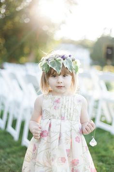 DIY Oceanside Maine Wedding | Flower Girl | See more on SMP:  http://www.StyleMePretty.com/maine-weddings/2014/03/07/diy-oceanside-maine-wedding/ Melanie Gabrielle Photography