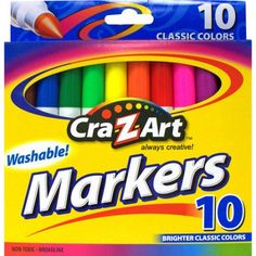 Cra-Z-Art Washable Markers, 10ct, Assorted