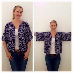 French Seams : How to Make a Kimono Style Jacket