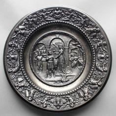 Arminius und Thusnelda, großer Teller, Mägdesprunger Eisenhüttenwerk, Mitte 19…