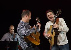 Johannes Linstead, Geoff Hlibka and Leo Nobre. Catalina Island JazzTrax Festival 2011.