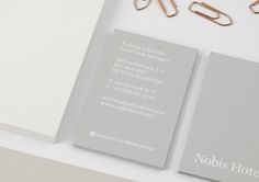 Nobis Hotel — graphic identity by BrittonBritton, via Behance