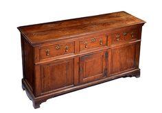 An Early 19th Century Oak Dresser Base