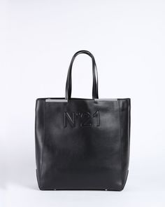 Leather shopping tote N°21