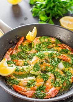 Garlic and Parsley Butter Shrimp #seafoodrecipes