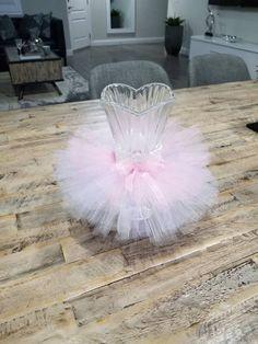 Pink lavender and white vase tutu skirt. Baby shower decoration. Wedding decoration.