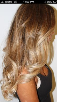 Beliage blonde hair