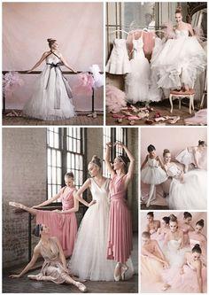 Ballerina Compilation Wedding Dress/ Bridesmaid Dresses