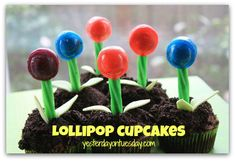 Lollipop Cupcakes from Yesterday On Tuesday