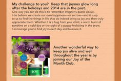 A Message from Nadine, Keep the Joy Aglow!