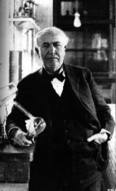 Thomas Alva Edison was an American inventor and businessman. He developed many devices that greatly influenced life around the world, including the phonograph, the motion picture camera, and a long-lasting, practical electric light bulb..