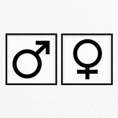 Gender Symbols Art Print Set Male Symbol by RandomLovePrints Symbolic Art, Sibling Photos, Wall Art Sets, Siblings, Diversity, Modern Art, Foundation, Gender, Art Print