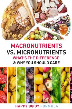 Macronutrients vs. Micronutrients: What Is The Difference & Why You Should Care. Plus, our recommendation for ratios and if you should count your macros.